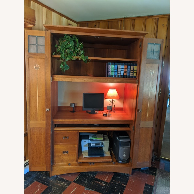 Stickley Oak Armoire Desk - image-1