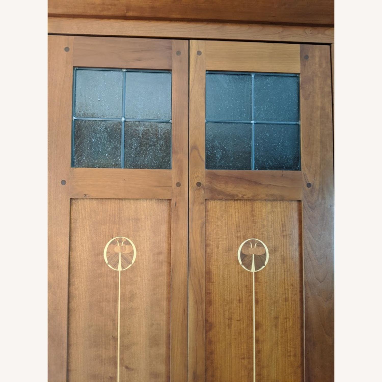 Stickley Oak Armoire Desk - image-7