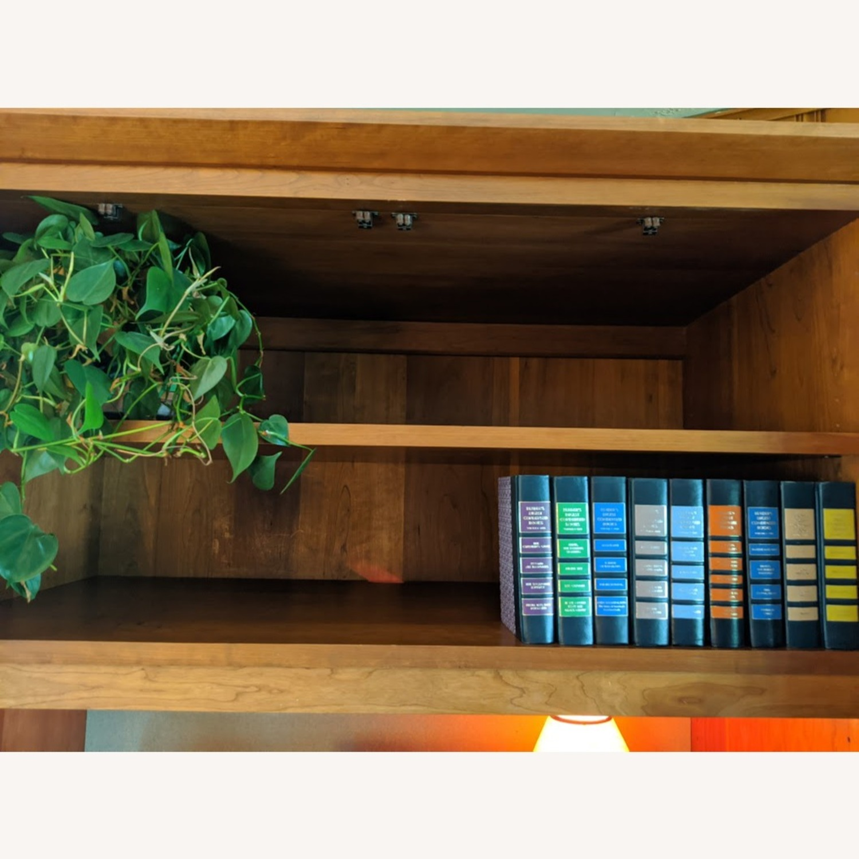 Stickley Oak Armoire Desk - image-5