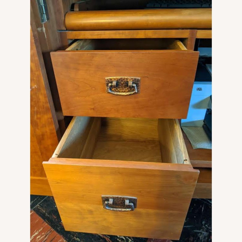 Stickley Oak Armoire Desk - image-6