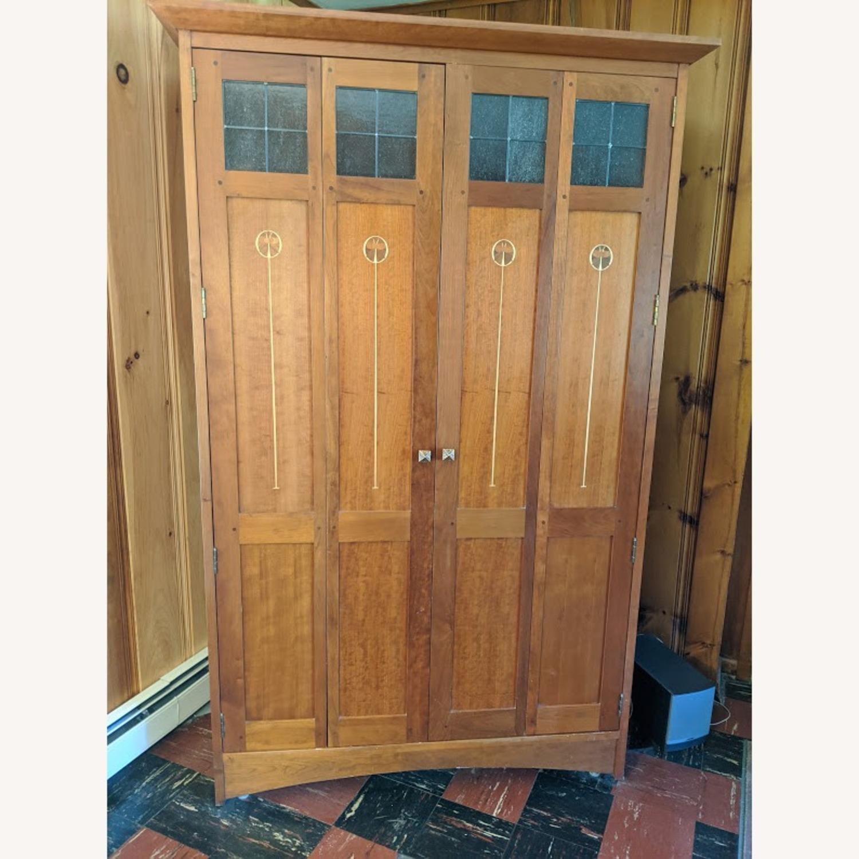 Stickley Oak Armoire Desk - image-2