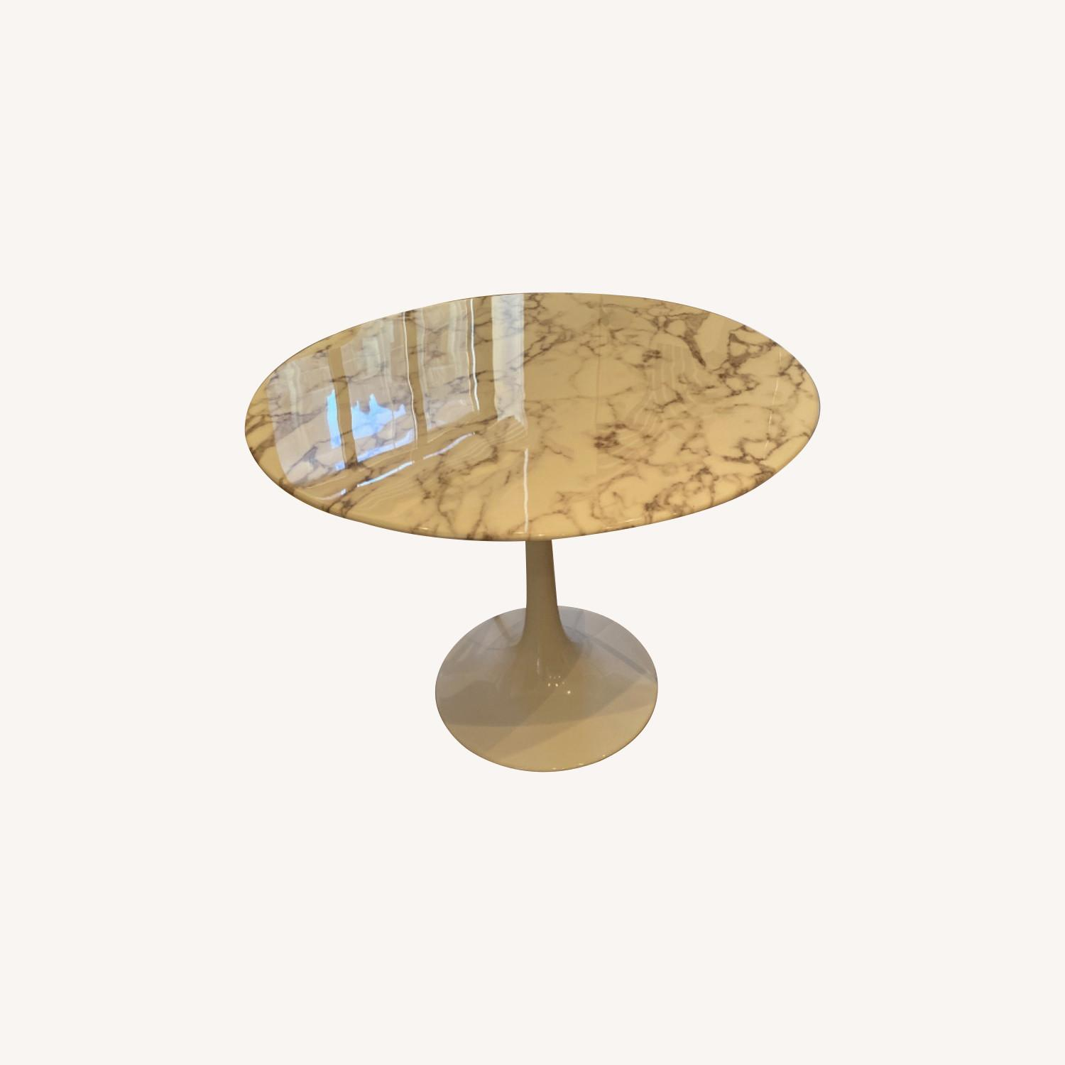 Round Marble Tulip Table - image-0