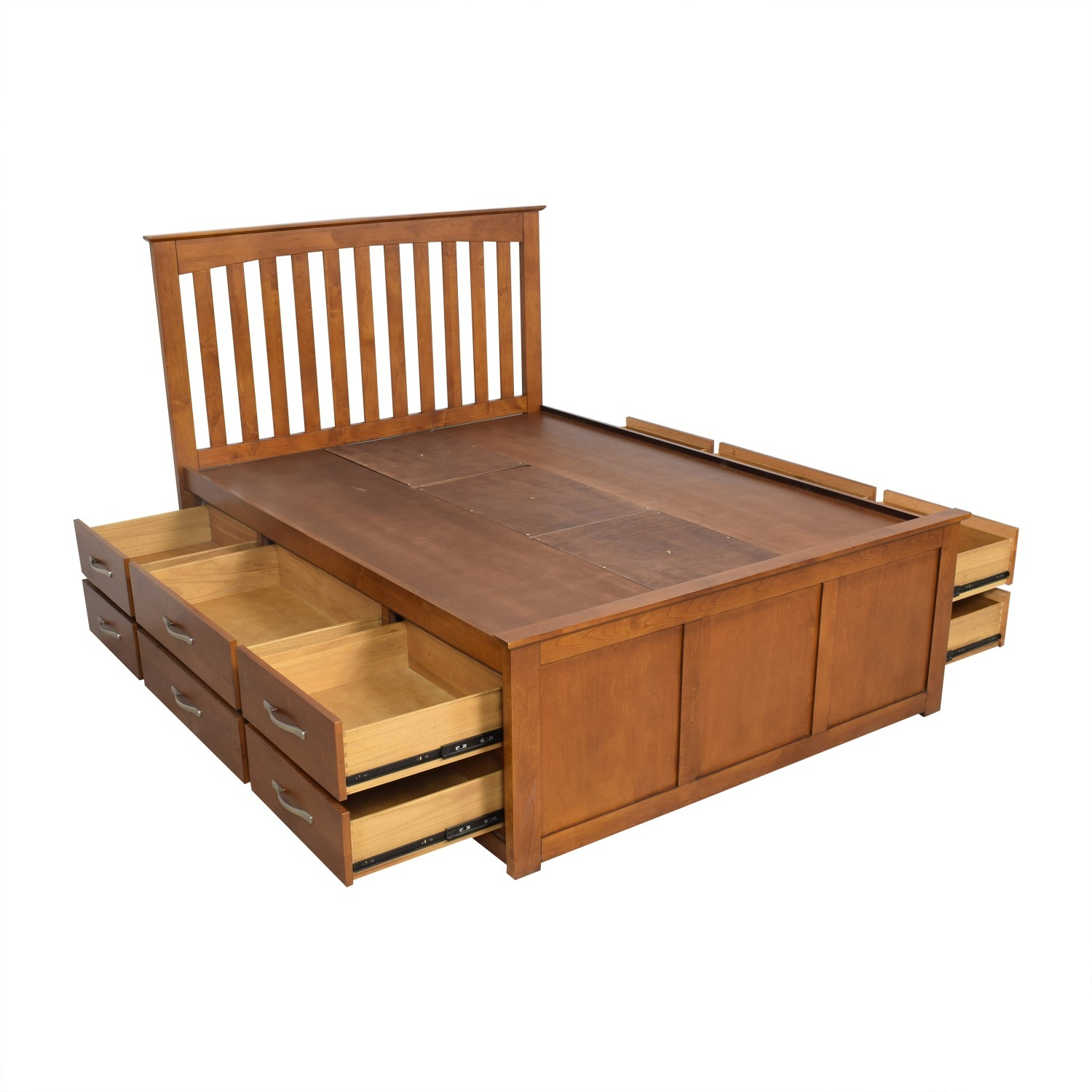Raymour & Flanigan King Size Bed - image-1
