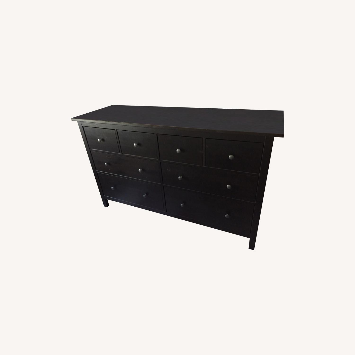 IKEA Black Hemnes 8 Drawer Dresser - image-0