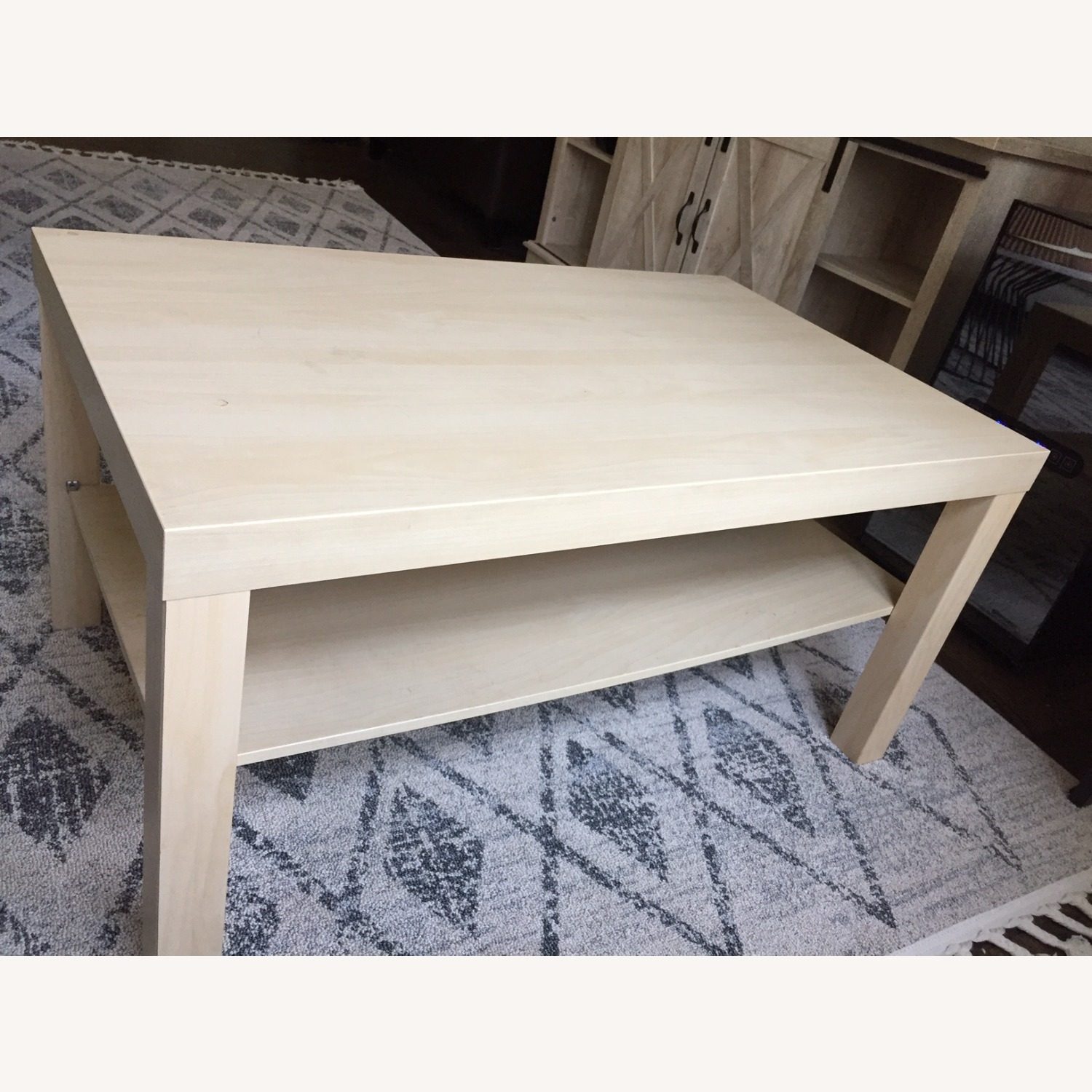 IKEA White Stained Oak Effect Lack Coffee Table - image-1