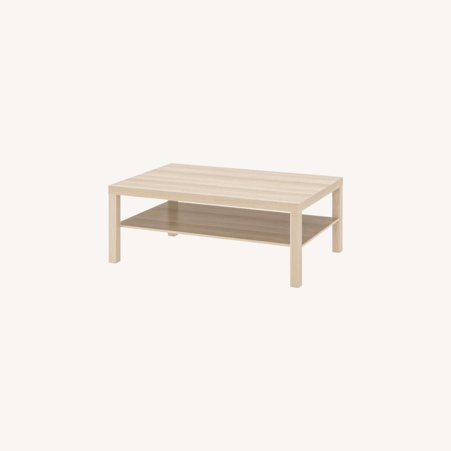 IKEA White Stained Oak Effect Lack Coffee Table - image-0