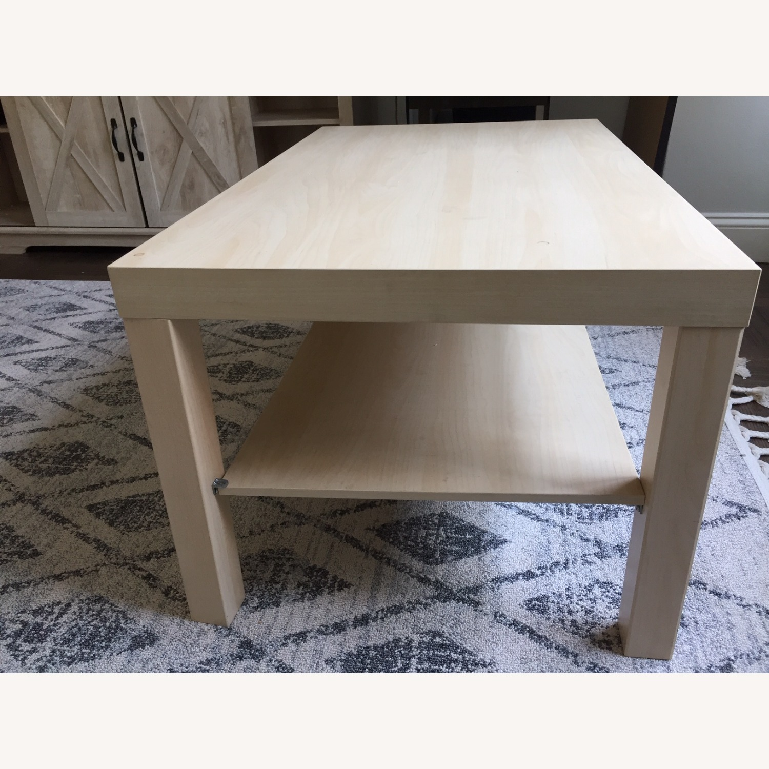 IKEA White Stained Oak Effect Lack Coffee Table - image-2