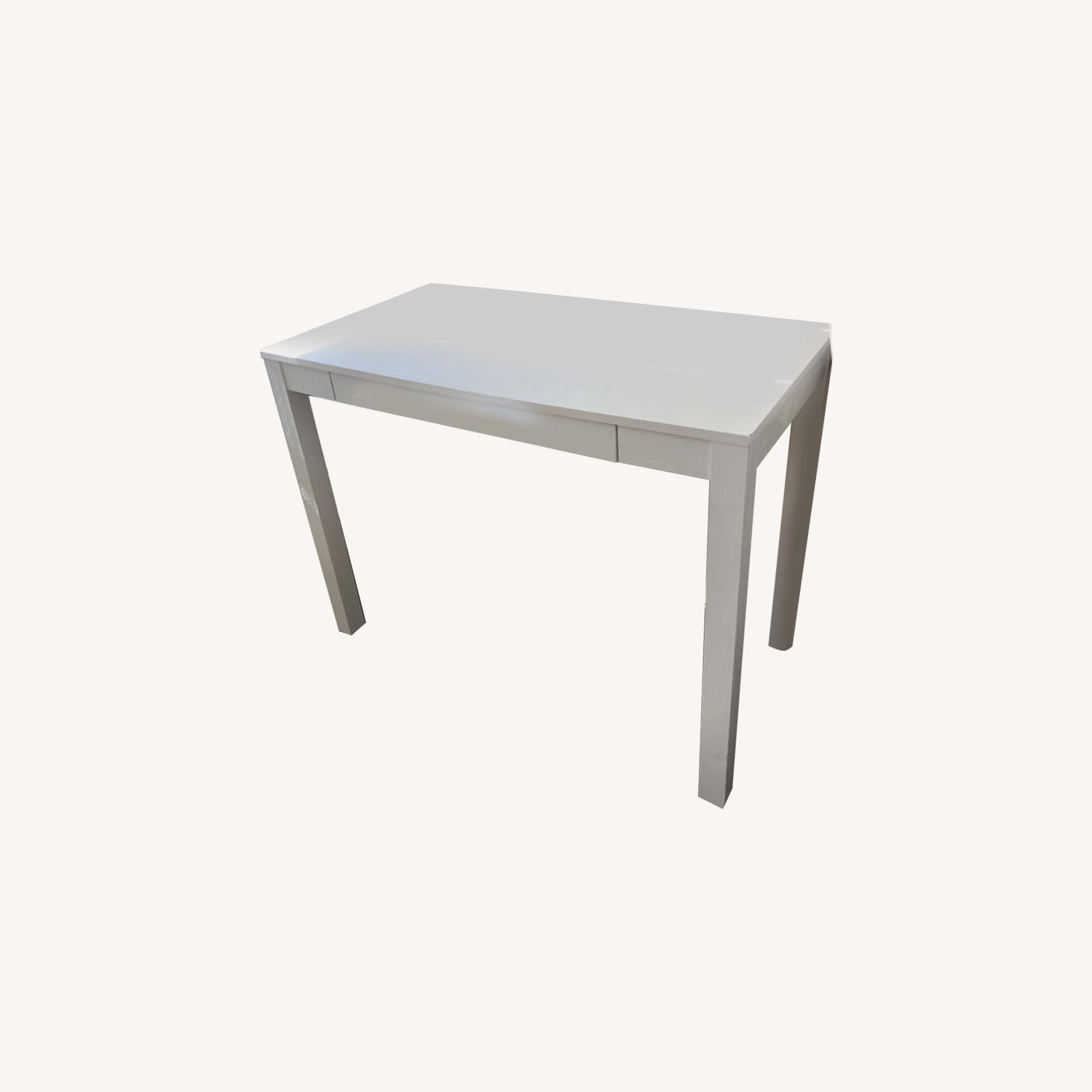 White Wooden Desk with Chair - image-0
