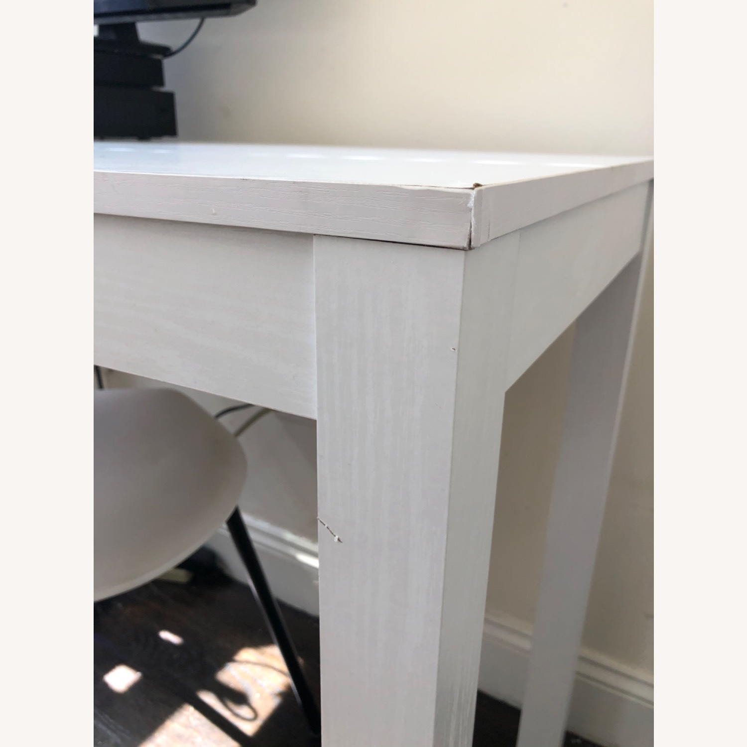 White Wooden Desk with Chair - image-6