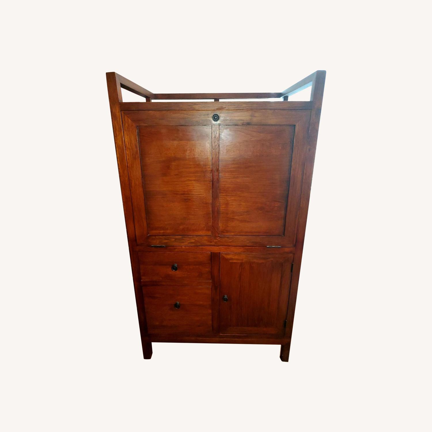 Crate and Barrel Desk Armoire - image-0