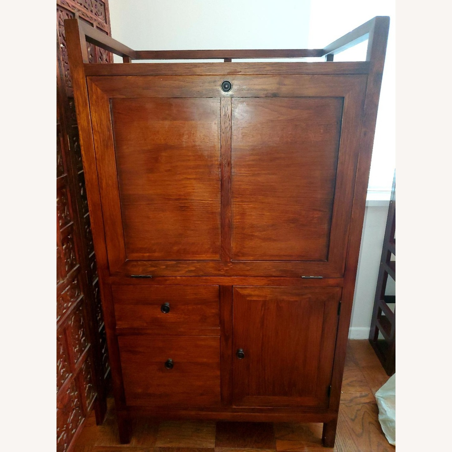 Crate and Barrel Desk Armoire - image-1