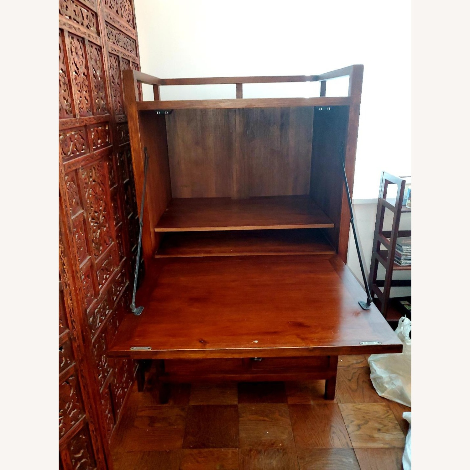 Crate and Barrel Desk Armoire - image-2