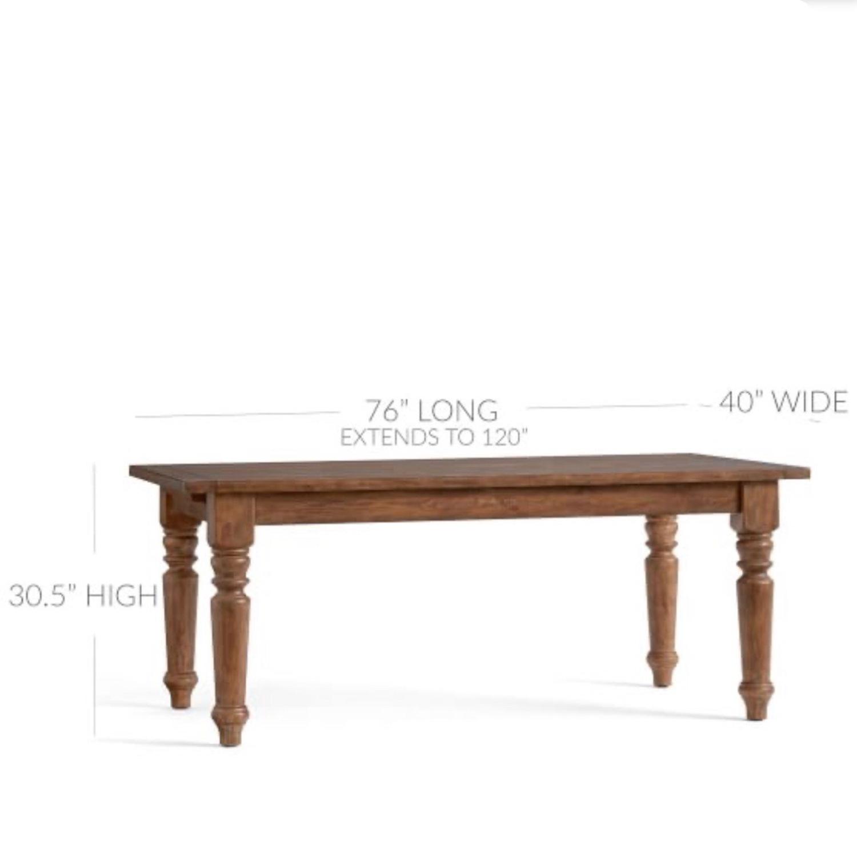 Pottery Barn Rustic Mahogany Sumner Extension Table - image-2