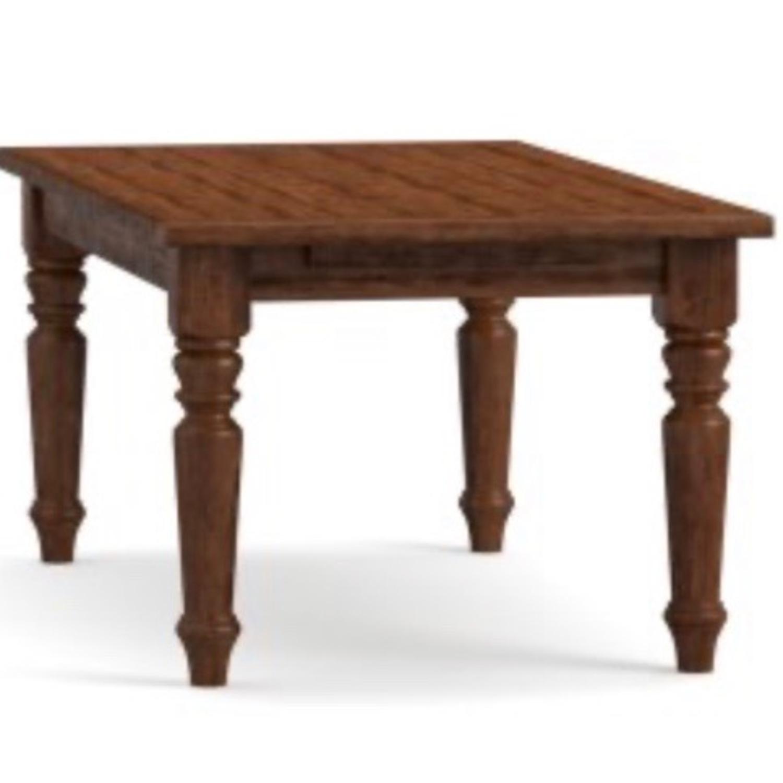 Pottery Barn Rustic Mahogany Sumner Extension Table - image-5