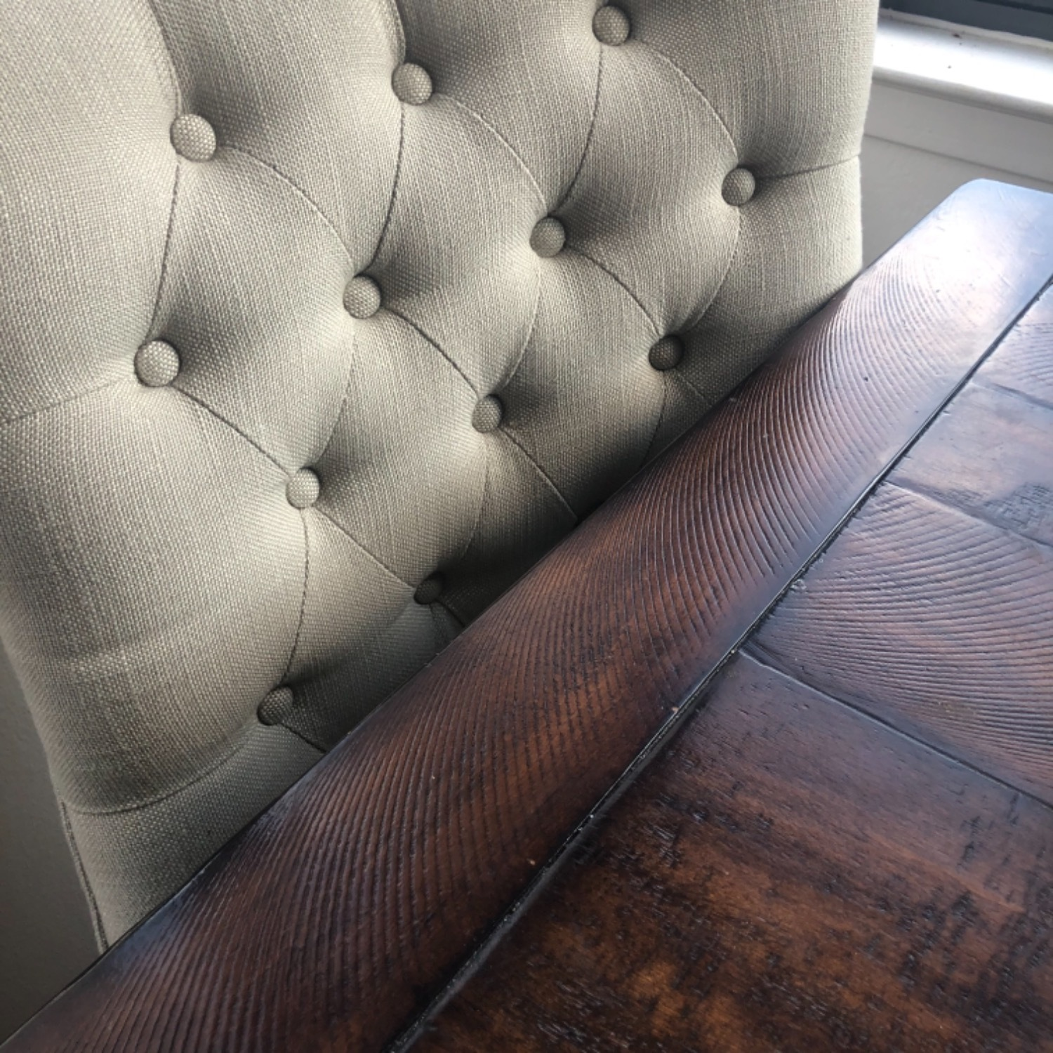 Pottery Barn Oatmeal Tufted Hayes Chair - image-5