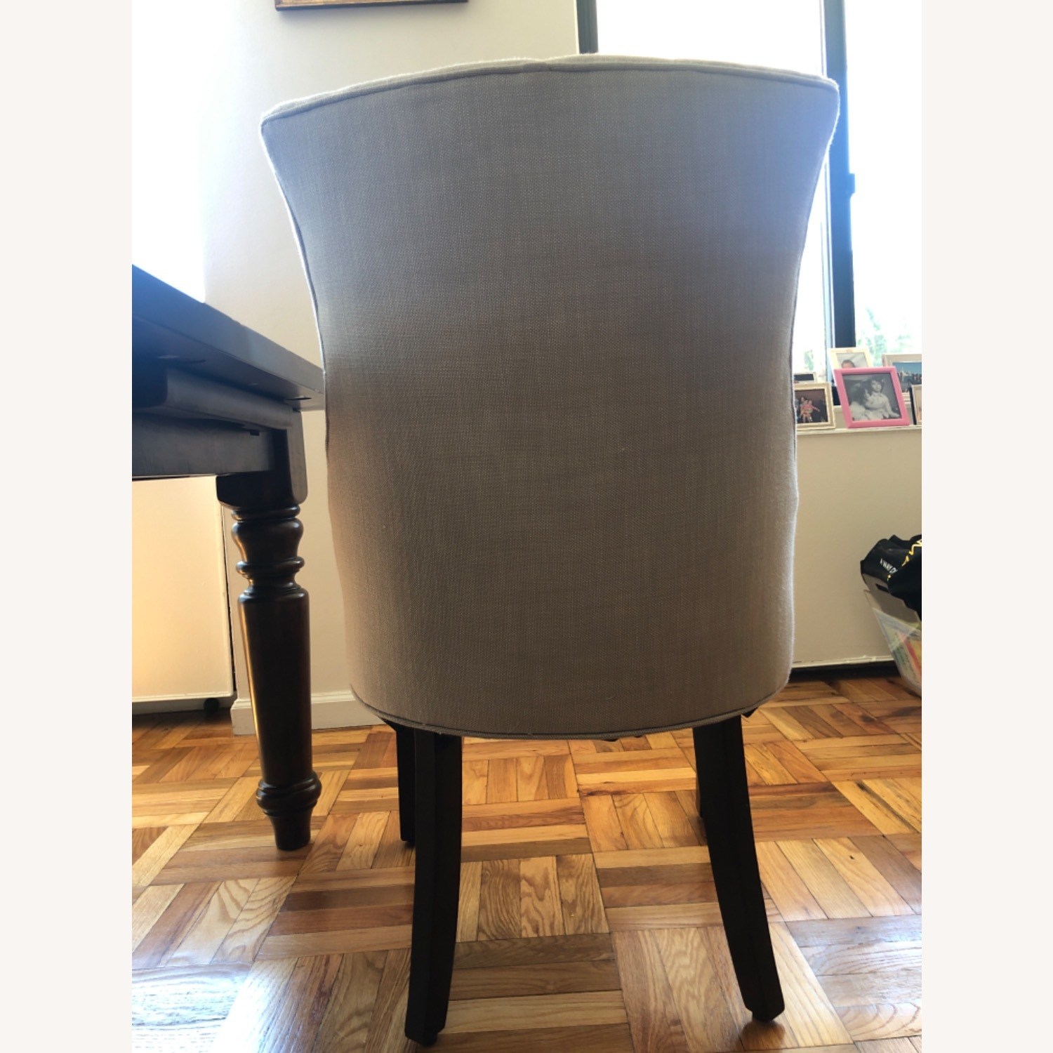 Pottery Barn Oatmeal Tufted Hayes Chair - image-7