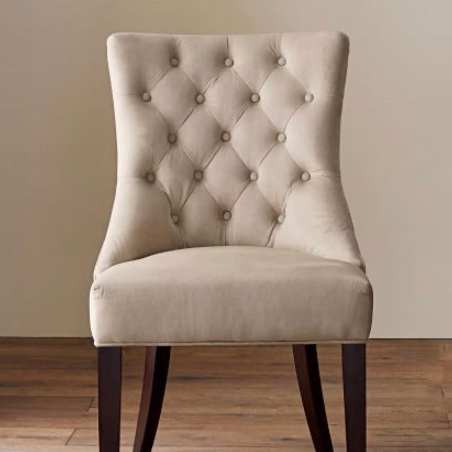 Pottery Barn Oatmeal Tufted Hayes Chair - image-1