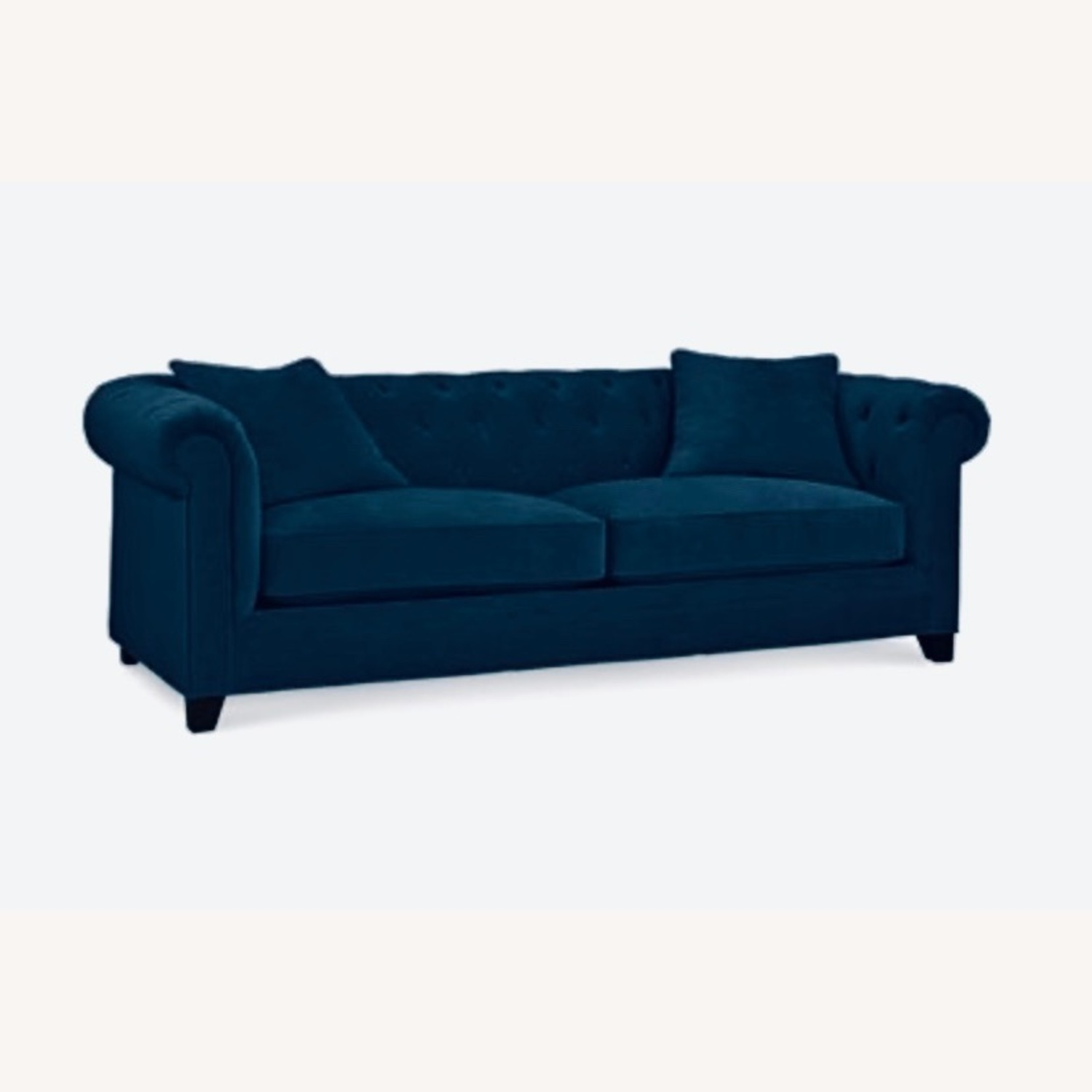 Macy's Martha Stewart Collection Navy Couch - image-1