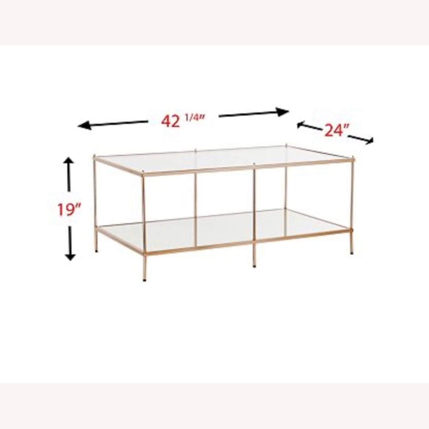 Macy's Glass Coffee Table with Metal Frame - image-1
