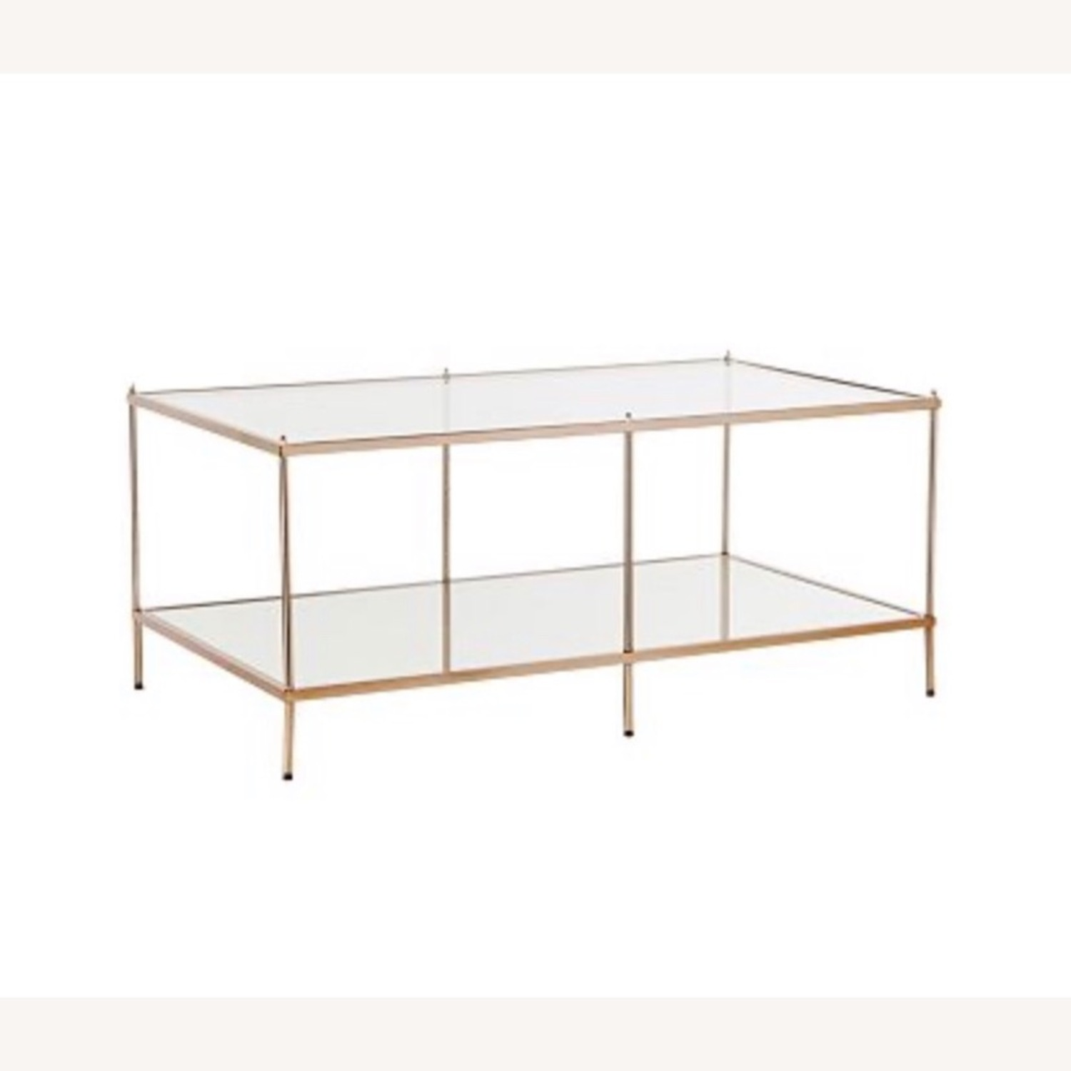 Macy's Glass Coffee Table with Metal Frame - image-3