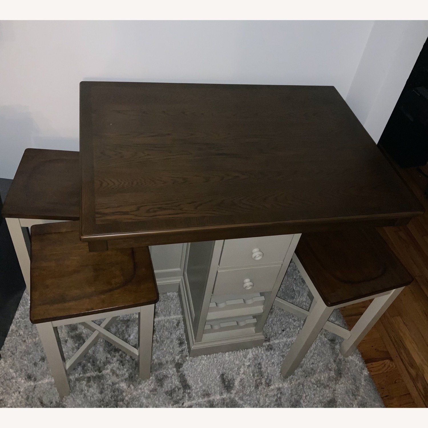 Raymour & Flanigan 4 Seat High Dining Table w/ Storage Space - image-3
