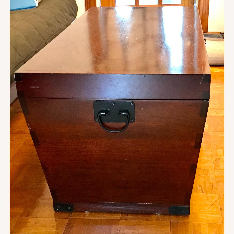 Antique Wood Storage Trunk - image-3