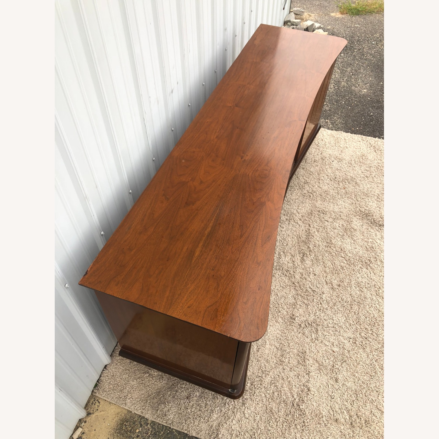 Mid Century Lowboy Dresser with Brasss Accents - image-7
