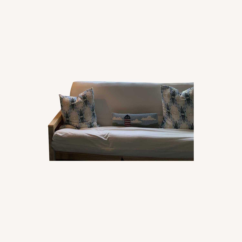 IKEA White Sofa Futon - image-0