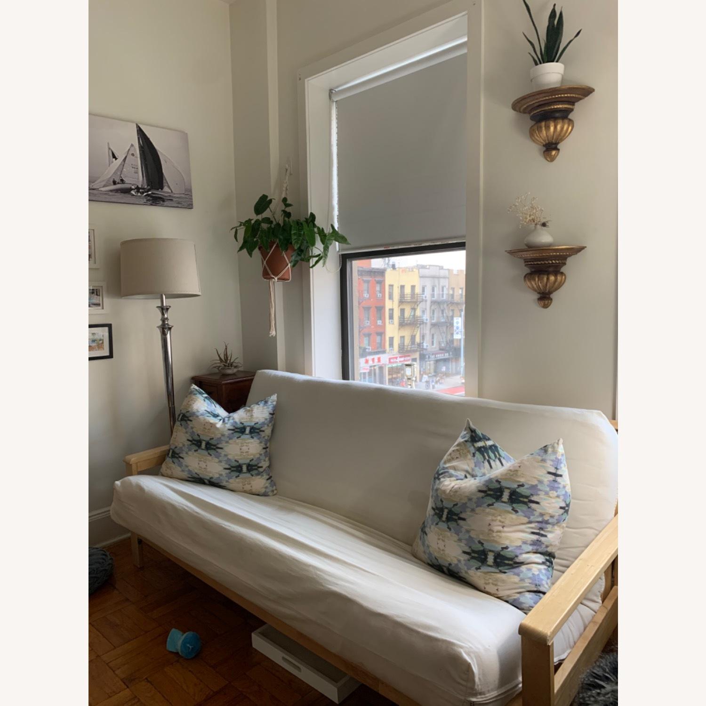IKEA White Sofa Futon - image-3