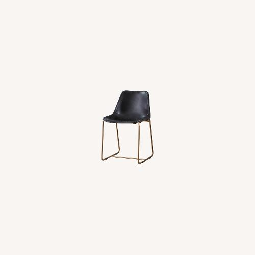 Used CB2 Roadhouse Black Leather Dining Chairs for sale on AptDeco