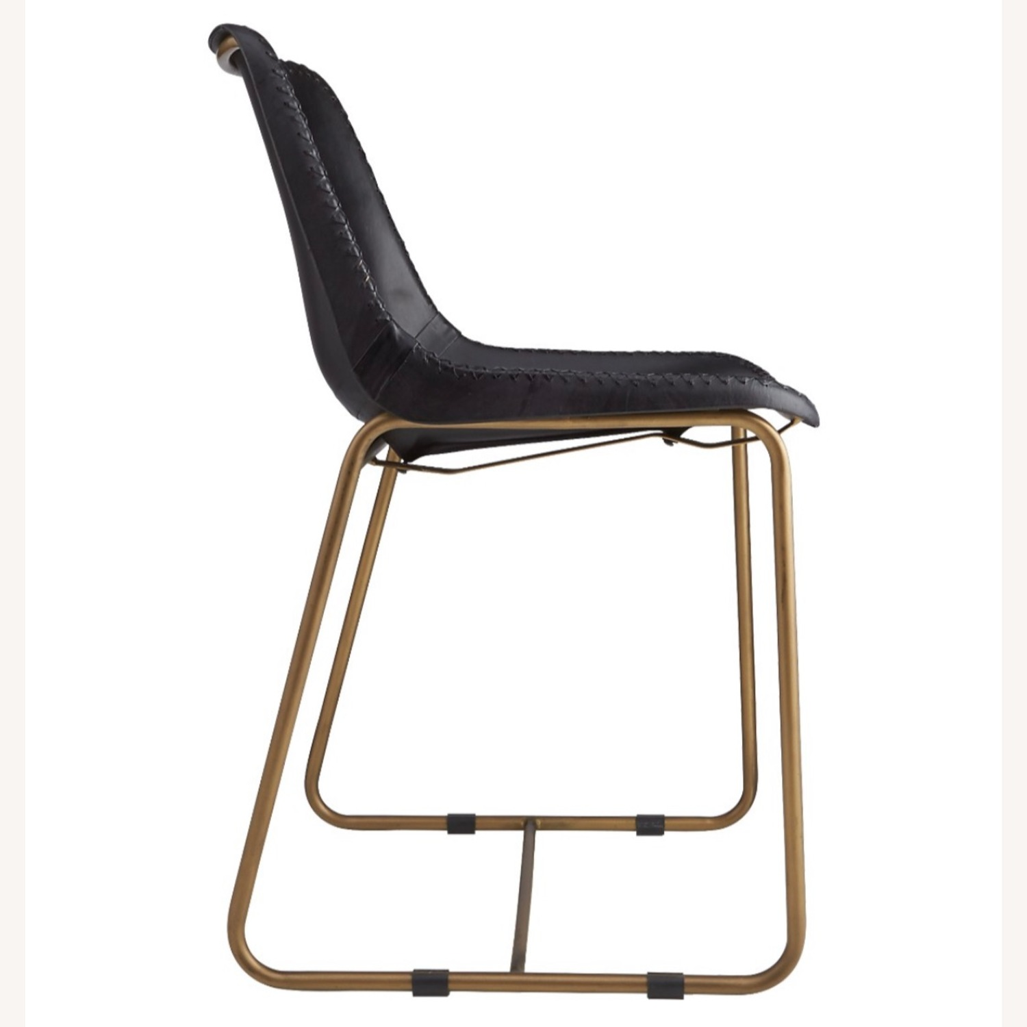 CB2 Roadhouse Black Leather Dining Chairs - image-3