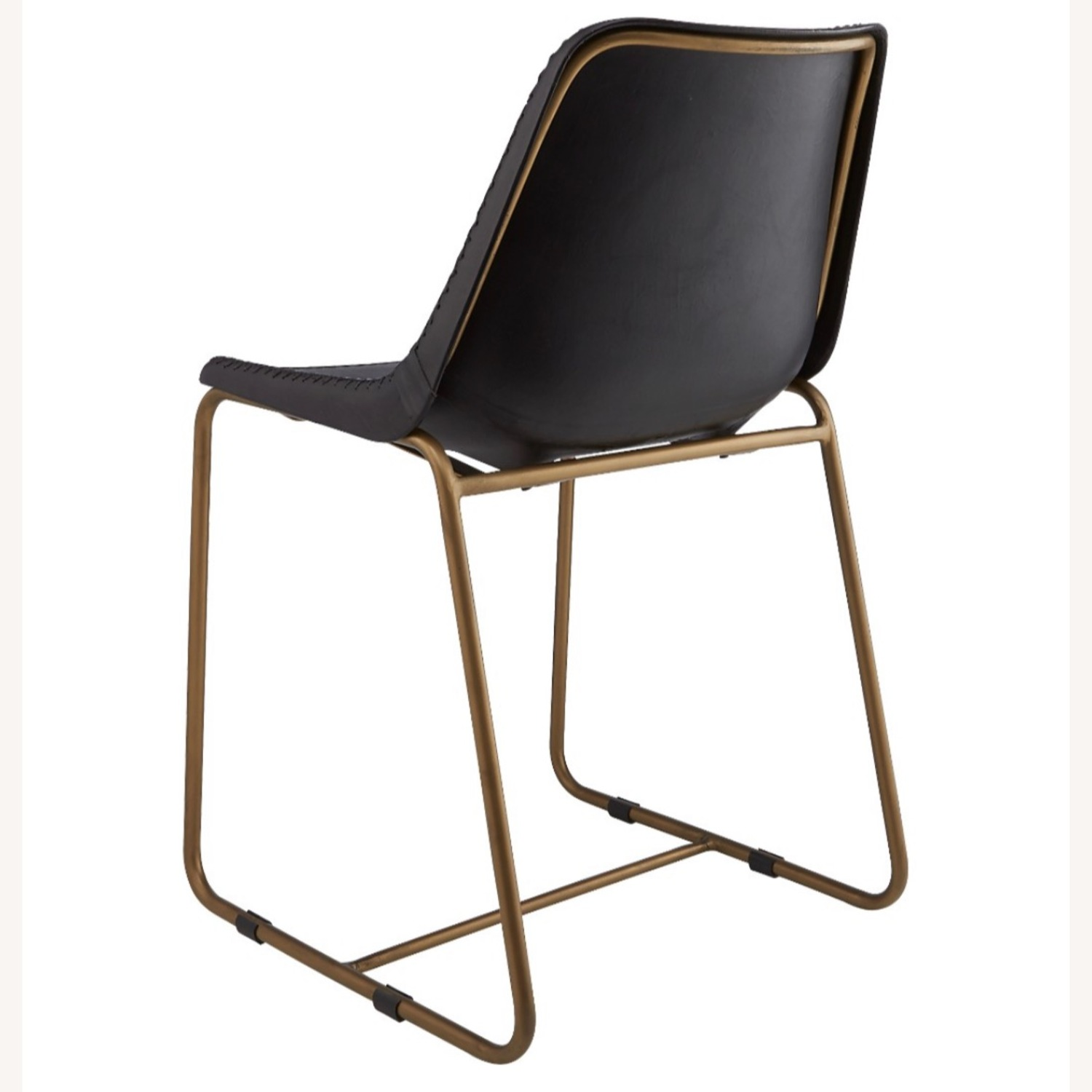 CB2 Roadhouse Black Leather Dining Chairs - image-4