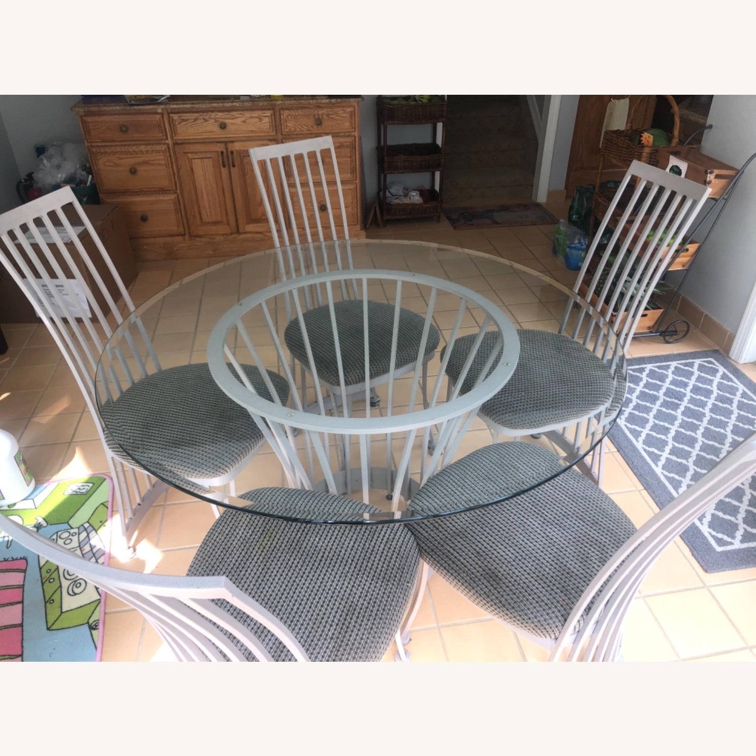 Round Dining Table Set for 5 - image-3