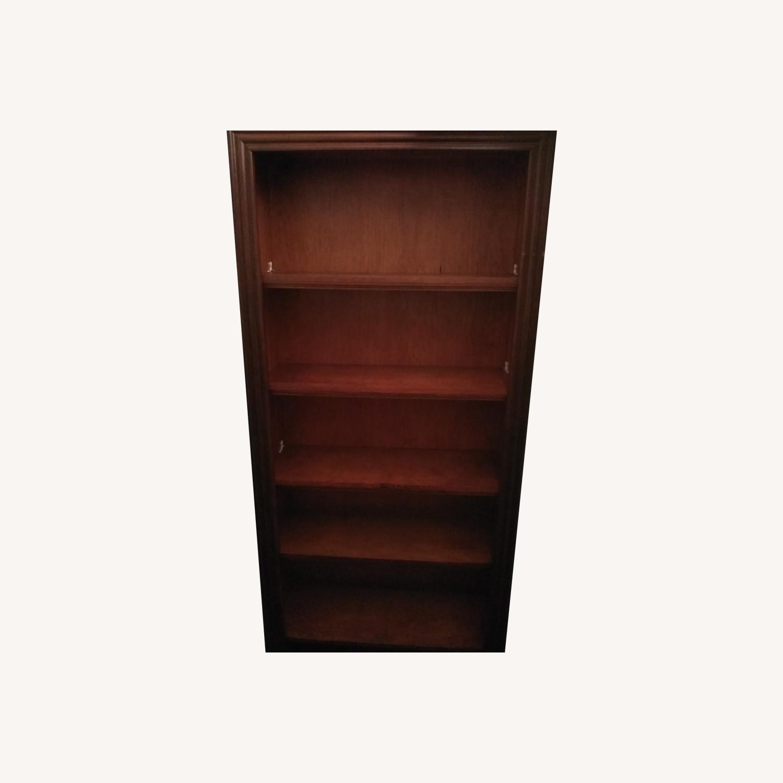 Solid Wooden 6 Shelf Bookshelf - image-0
