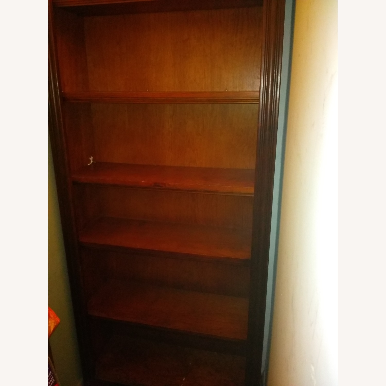 Solid Wooden 6 Shelf Bookshelf - image-3