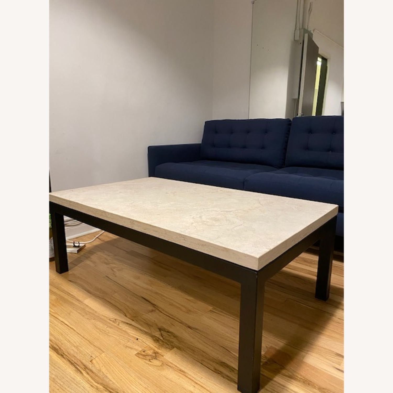 Crate & Barrel Marble Top Coffee Table - image-2