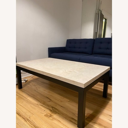 Used Crate & Barrel Marble Top Coffee Table for sale on AptDeco