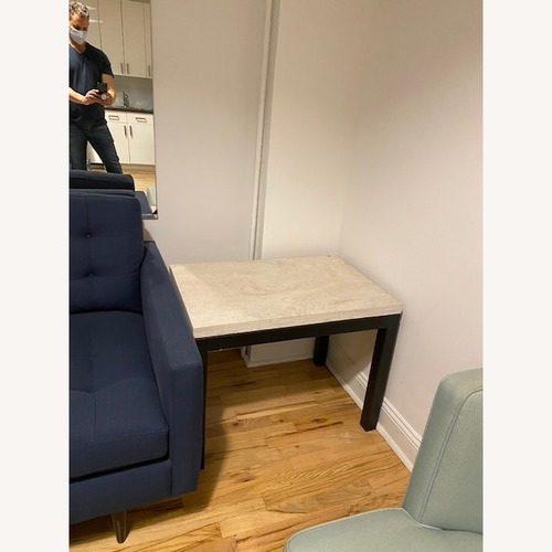 Used Crate & Barrel Marble top Side Table for sale on AptDeco