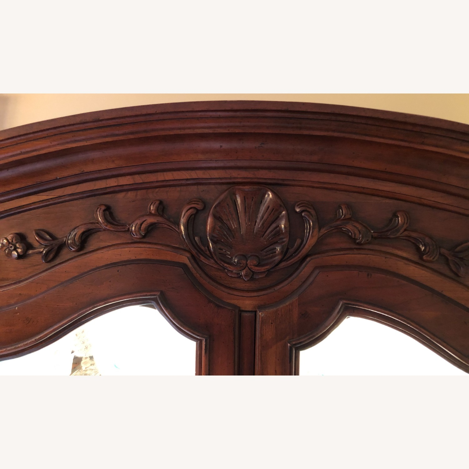 Pair of Vintage Carved Country French Cabinets - image-5