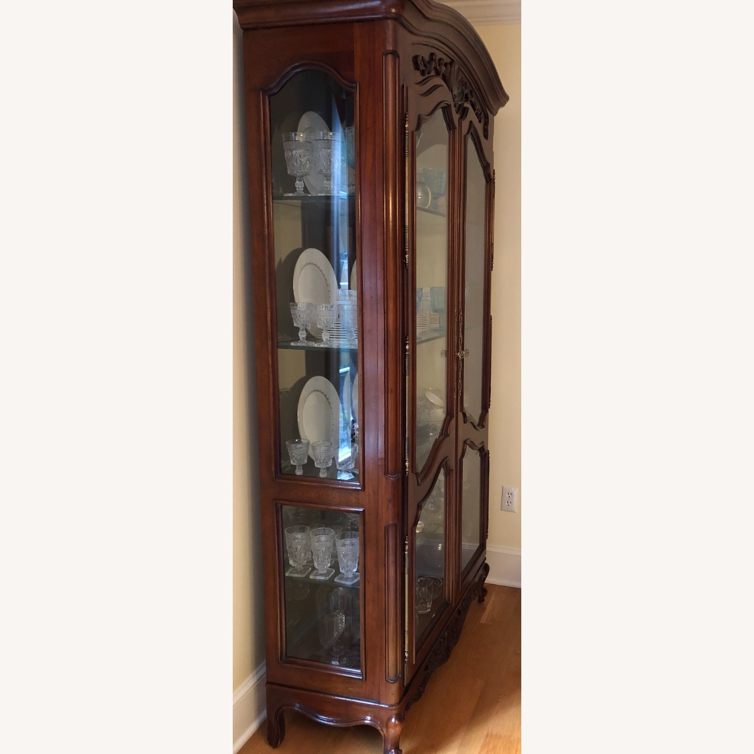 Pair of Vintage Carved Country French Cabinets - image-3