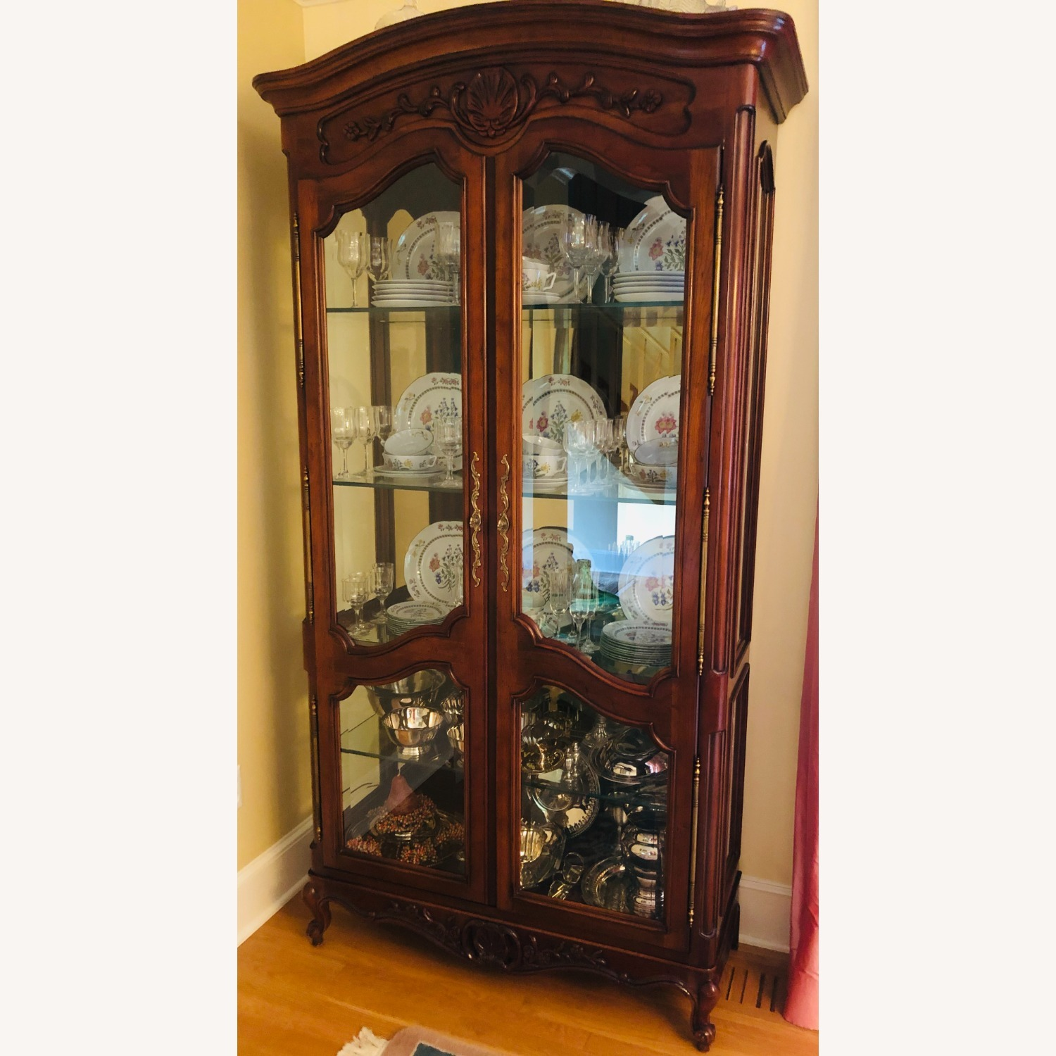 Pair of Vintage Carved Country French Cabinets - image-2