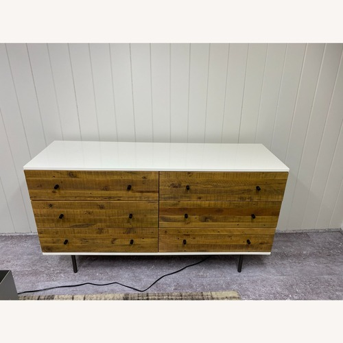 Used West Elm Reclaimed Wood & Lacquer 6-Drawer Dresser for sale on AptDeco