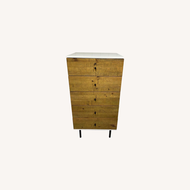 West Elm Reclaimed Wood & Lacquer 5-Drawer Dresser - image-0