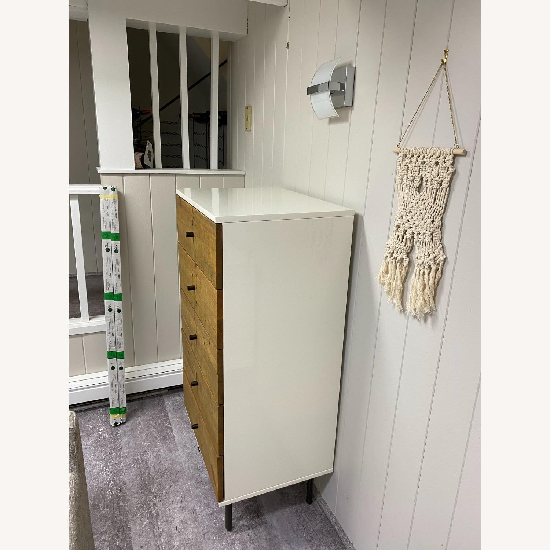 West Elm Reclaimed Wood & Lacquer 5-Drawer Dresser - image-3