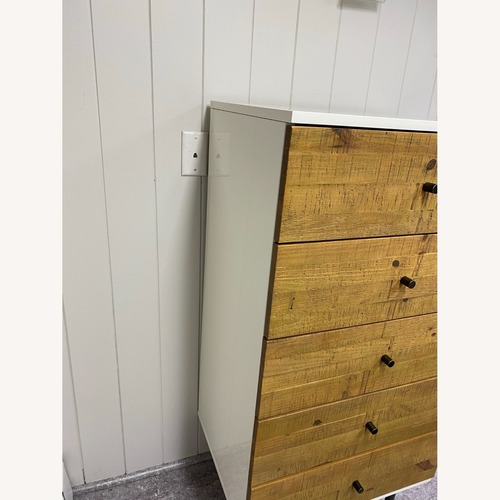 Used West Elm Reclaimed Wood & Lacquer 5-Drawer Dresser for sale on AptDeco