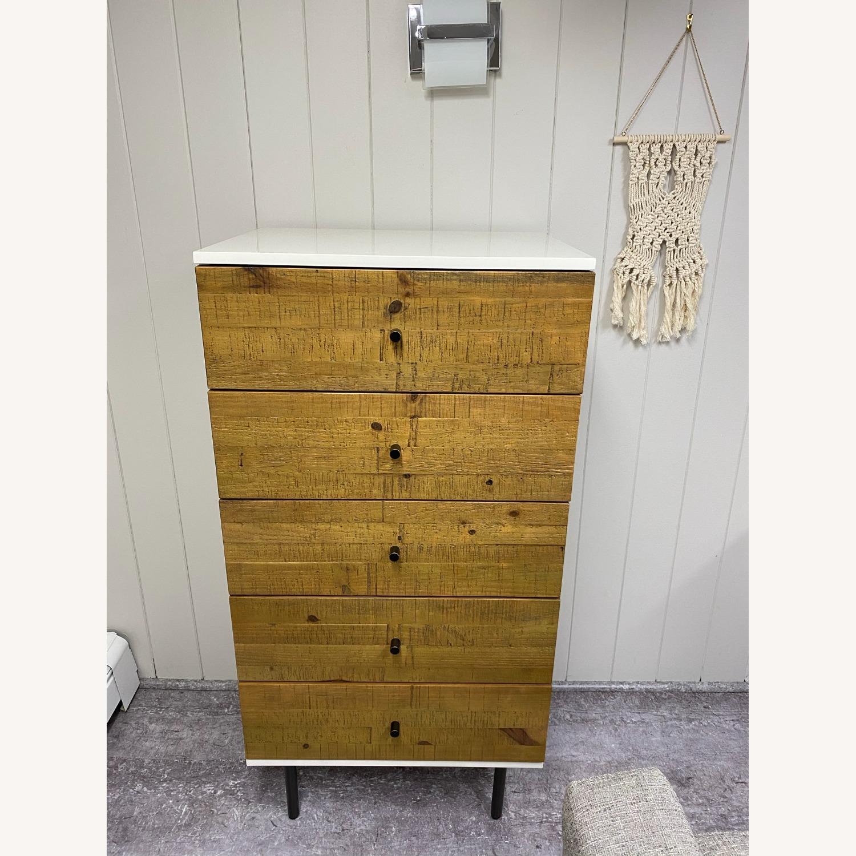 West Elm Reclaimed Wood & Lacquer 5-Drawer Dresser - image-1