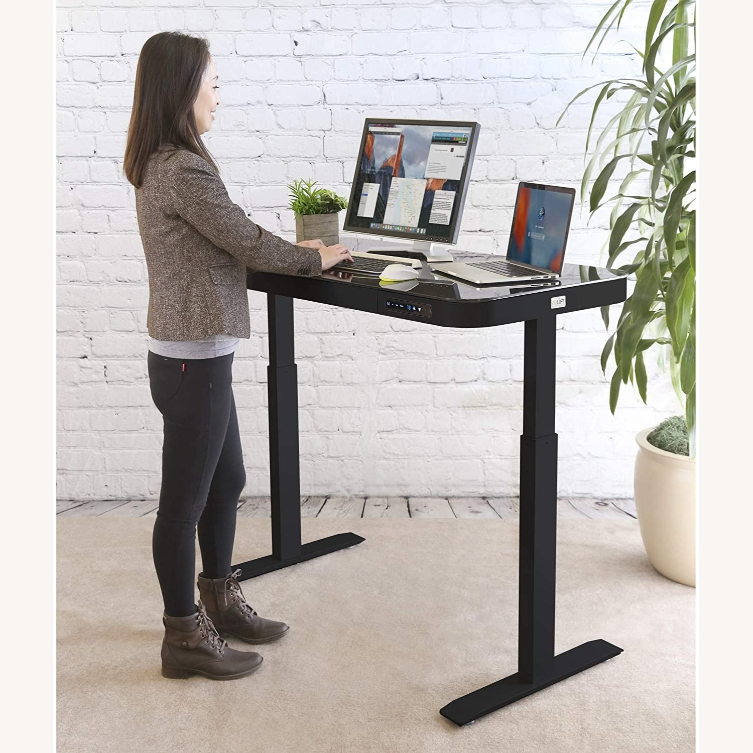 Airlift Glass Electric Standing Desk - image-5