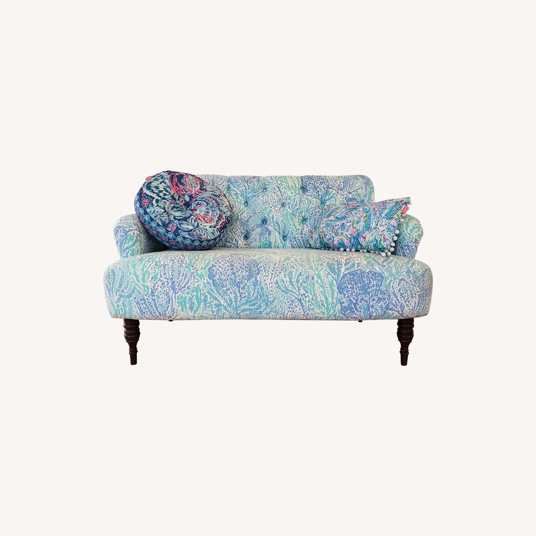 Pottery Barn Lilly Pulitzer Madison Upholstered Sofa - image-0