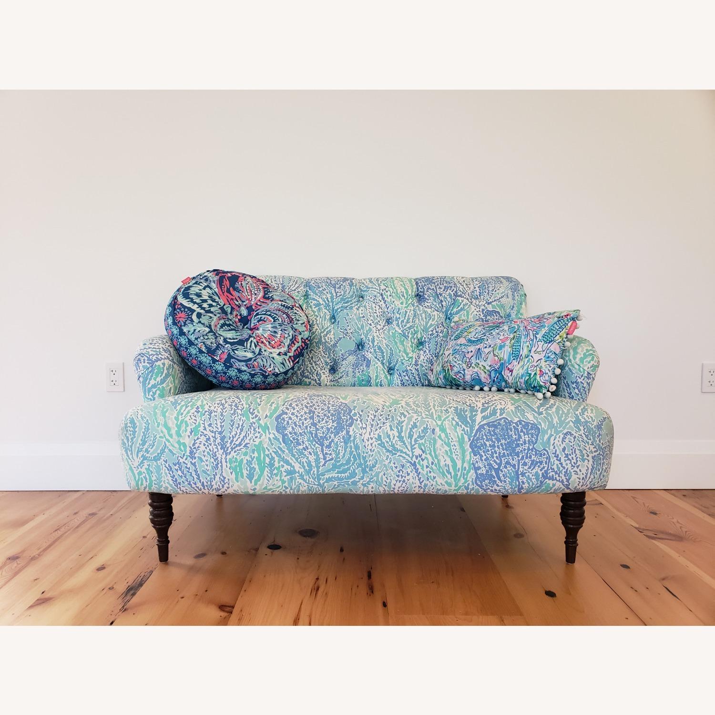 Pottery Barn Lilly Pulitzer Madison Upholstered Sofa - image-2