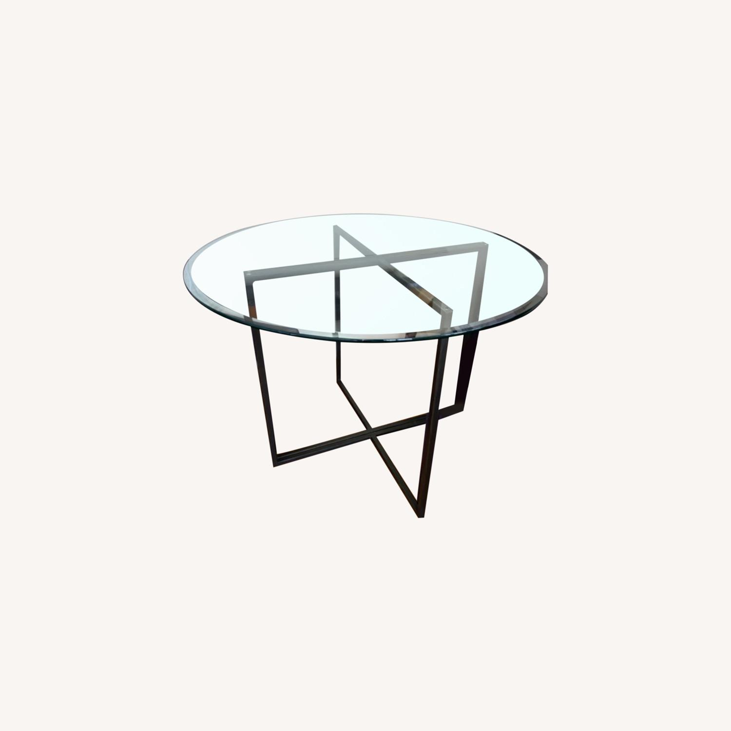 Create & Barrel Glass Dining Table - image-4
